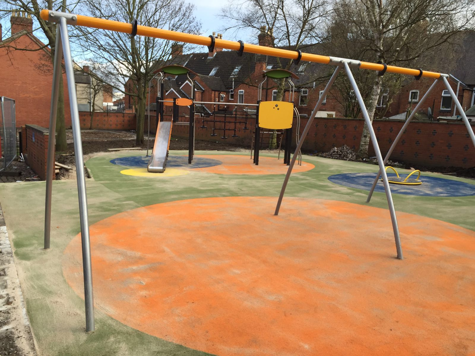 Durable playground area in Leicester